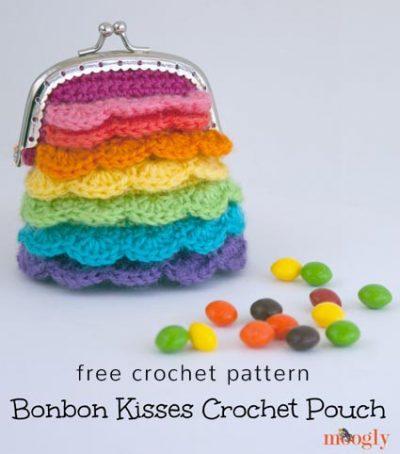Free Crochet Pattern Bonbon Kisses Pouch
