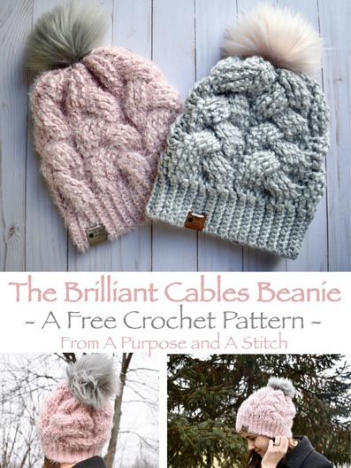 Free Crochet Pattern Cable Beanie