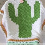 Free Crochet Pattern Cactus Baby Blanket