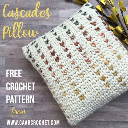 Free Crochet Pattern Cascades Pillow