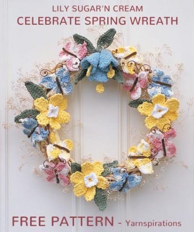 Free Crochet Pattern Celebrite Spring Wreath