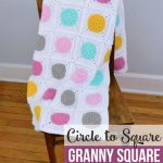 Free Crochet Pattern Circle to Square Blanket
