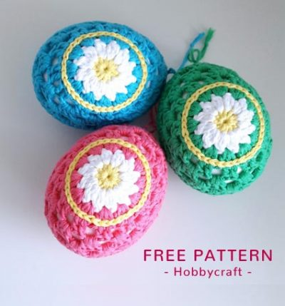 Free Crochet Pattern Daisy Easter Eggs