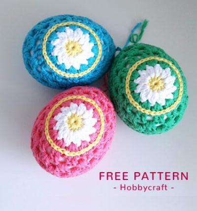 Free Crochet Pattern Daisy Easter Eggs