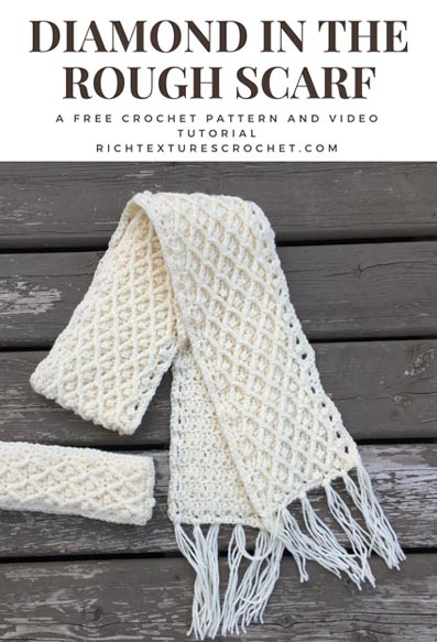 Free Crochet Pattern Diamond Scarf