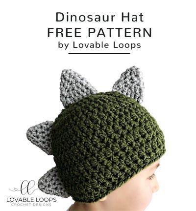 Free Crochet Pattern Dinosaur Hat