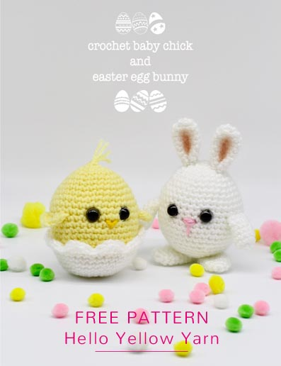 Free Crochet Pattern Easter Chick and Bunny