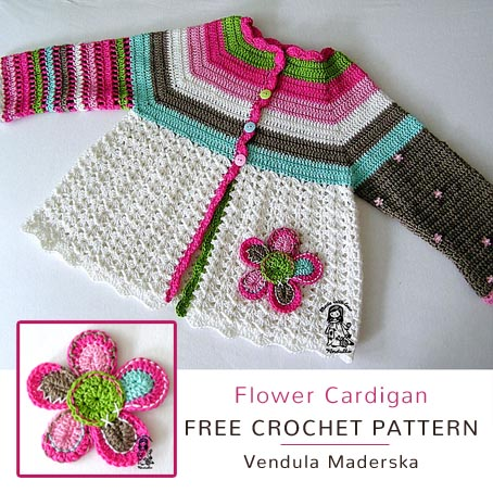 Free Crochet Pattern Flower Cardigan