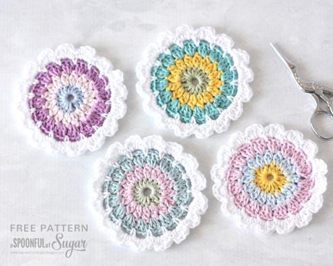 Crazy Cat Crochet Coaster FREE Crochet Pattern] | 386x482