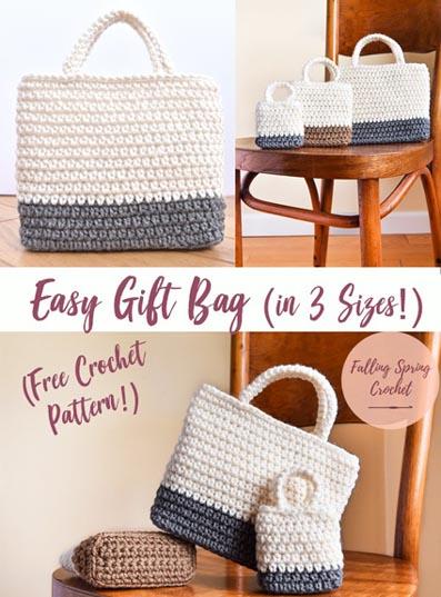Free Crochet Pattern Gift Bag