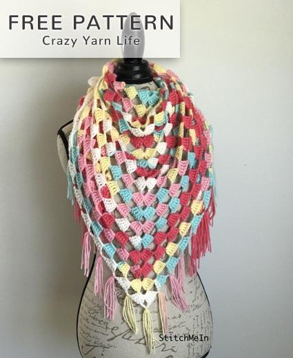 Free Crochet Pattern Granny Triangle Shawl