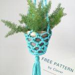 Free Crochet Pattern Hanging Planter