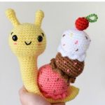 Free Crochet Pattern Ice Cream Snail