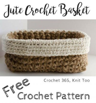 Free Crochet Pattern Jute Basket