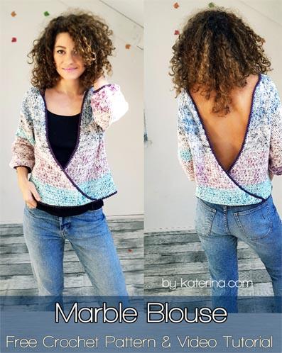 Free Crochet Pattern Marble Blouse