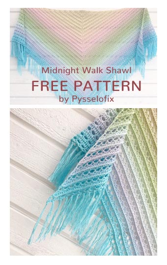 Free Crochet Pattern Midnight Walk Shawl