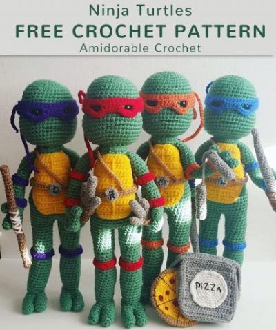 Free Crochet Pattern Ninja Turtles