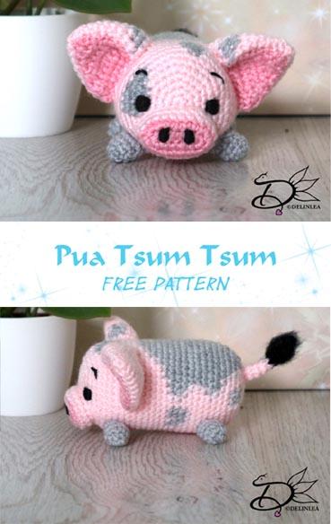 Free Crochet Pattern Pua Tsum Tsum