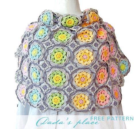Free Crochet Pattern Secret Garden Shawl
