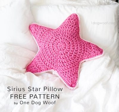 Free Crochet Pattern Sirius Star Pillow