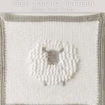 Free Crochet Pattern Sheep Baby Blanket