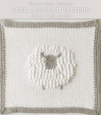 Free Crochet Pattern Sheep Baby Blanket