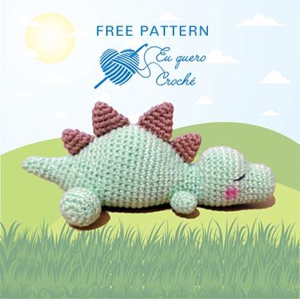 Free Crochet Pattern Sleeping Baby Dino