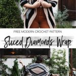 Free Crochet Pattern Sliced Diamonds Wrap