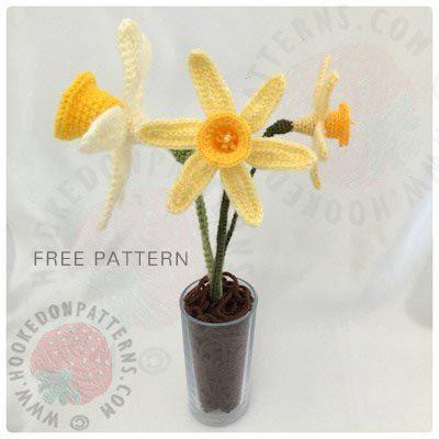 Free Crochet Pattern Spring Daffodils