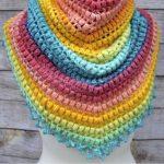 Free Crochet Pattern Spring Triangle Scarf