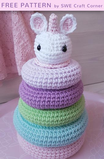 Free Crochet Pattern Stella Stacking Toy