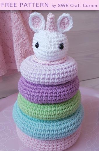 Free Crochet Pattern Stella Stacking Toy