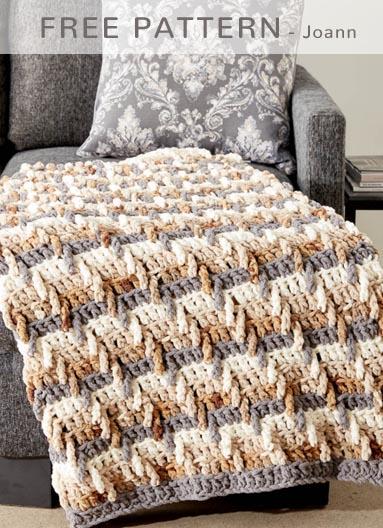 Free Crochet Pattern Step Ladder Blanket