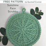 Free Crochet Pattern Sunshine Face Scrubbie
