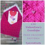 Free Crochet Pattern Valentine's Envelope