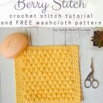 Free Crochet Pattern Berry Stitch Washcloth
