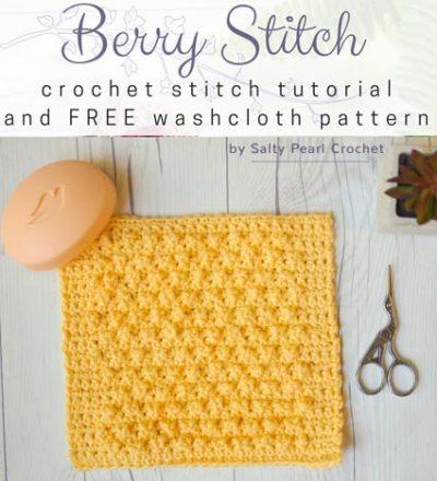 Haakpatroon Berry Stitch Washcloth