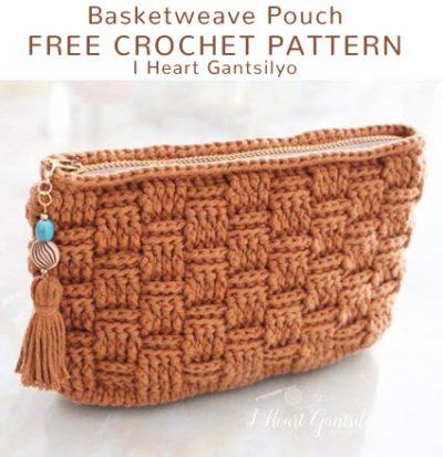 Free Crochet Pattern Basketweave Pouch