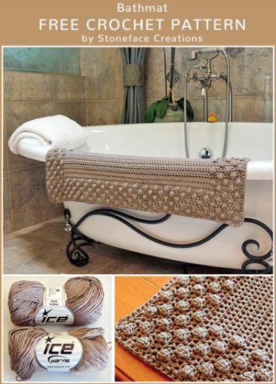 Free Crochet Pattern Bathmat