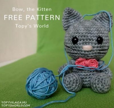 Free Crochet Pattern Bow the Kitten