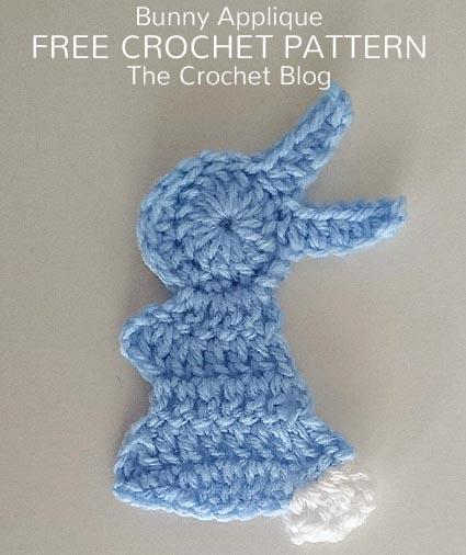 Free Crochet Pattern Bunny Applique