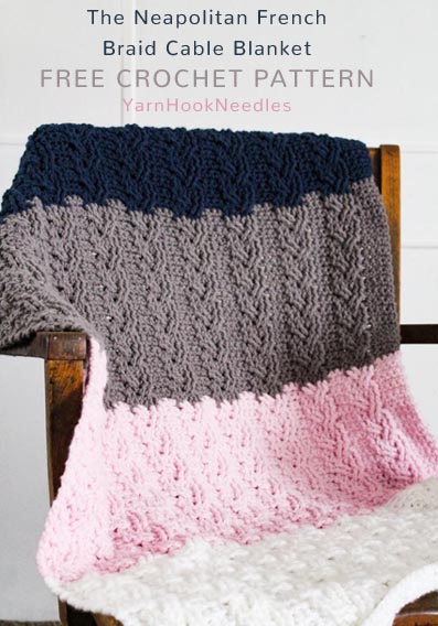 Free Crochet Pattern Cable Blanket