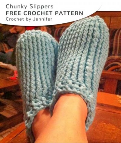 Free Crochet Pattern Chunky Slippers