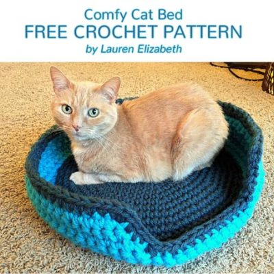 Free Crochet Pattern Comfy Cat Bed