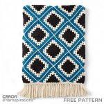 Free Crochet Pattern Diamond Granny Afghan