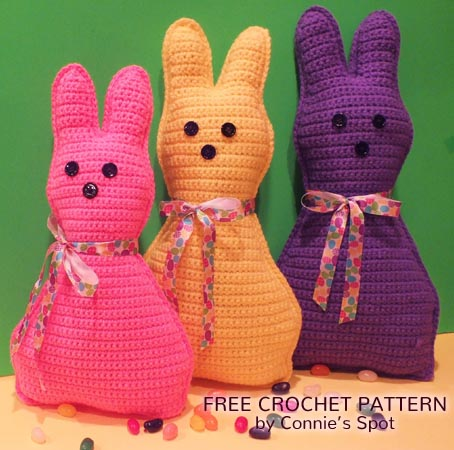 Free Crochet Pattern Easter Bunny Pillow