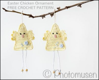 Free Crochet Pattern Easter Chicken Ornament
