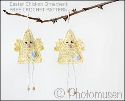 Free Crochet Pattern Easter Chicken Ornament