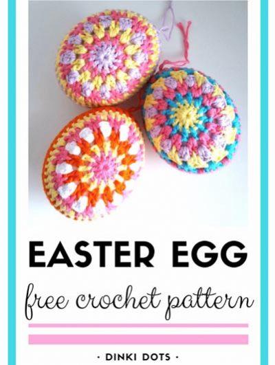 Free Crochet Pattern Easter Egg