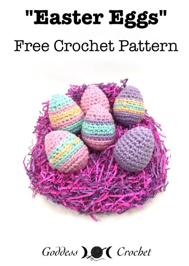 Free Crochet Pattern Easter Eggs
